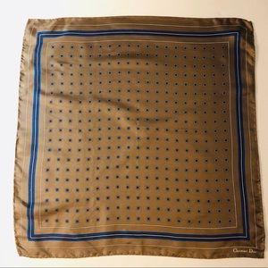 """Christian Dior Silk Pocket Square 17"""""""